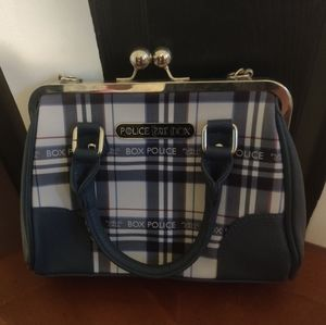 Doctor who plaid purse.